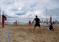 Partita di beach tennis presso Bagno Italia-Giuliana a Pinarella di Cervia