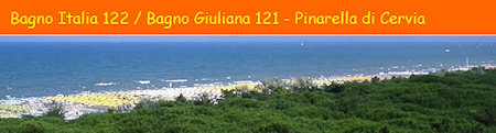 Banner Bagno Italia-Giuliana con immagine della riviera romagnola